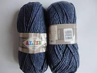 Пряжа Alize Lanagold Plus, джинс меланж 203, 100*140, 039900