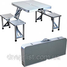 Стол раскладной для пикника, алюминий+МДФ