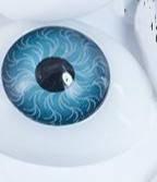 Глазки для игрушек, овал, 7.5*10 мм, синие, 028842