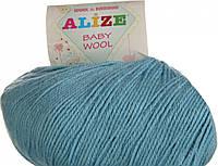 Пряжа Alize BABY WOOL, морская вода 128, 50*175, 019711