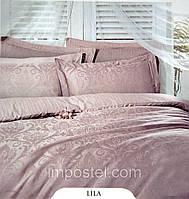 Евро комплект постельного белья Deco Bianca, жаккардовый сатин, Турция