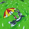 Вафельная ткань детская с кроликом Бакс Бани, ширина 150 см