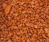 Щебень цветной гранитный от производителя крошка оранжевая