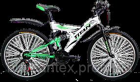 Велосипеды ТМ Titan горные, стальная рама, двухподвес Tornado Титан бесплатная доставка