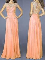 DL-998 Модное длинное вечернее платье 2017 на свадьбу, выпускной и другое торжество