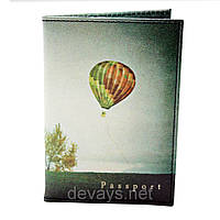 Обложка для паспорта из кожзама *Воздушное путешествие*