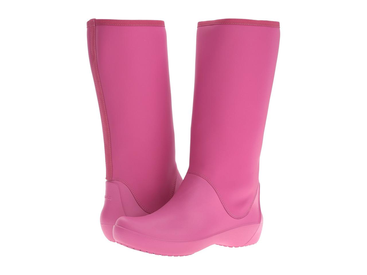 d2a33d62f411 Сапоги резиновые женские высокие мягкие Crocs Women's RainFloe Tall Boot /  дождевики