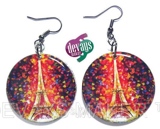 Серьги Огни Парижа, фото 2