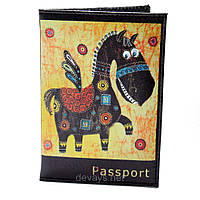 Обложка для паспорта из кожзама *Пегас*