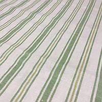 Льон рушникові з зеленою смужкою, ширина 50 см