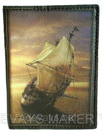 Обложка на паспорт кожаная Фрегат, фото 2