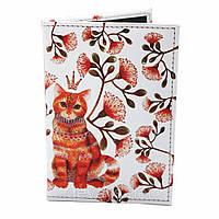 Обложка для паспорта из кожзама *Рыжий кот*