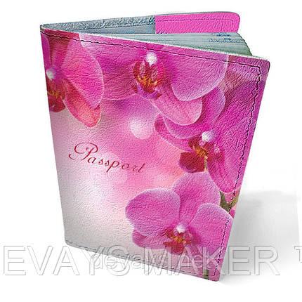 "Обложка на паспорт кожаная ""Орхидея"", фото 2"