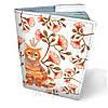 Обложка на паспорт кожаная Кот в цветах