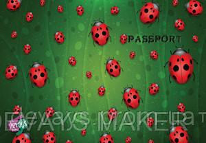 Обложка на паспорт кожаная Божьи коровки, фото 2