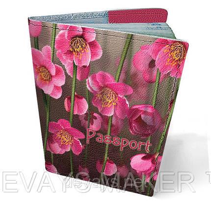 """Обложка на паспорт кожаная """"Висящие сады"""", фото 2"""