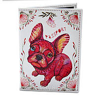Обложка для паспорта из кожзама *Пёс*