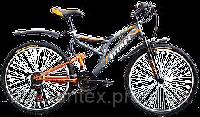 Велосипеды ТМ Titan горные, стальная рама, двухподвес Ghost Титан бесплатная доставка