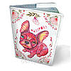 Обложка на паспорт кожаная Пёс в цветах
