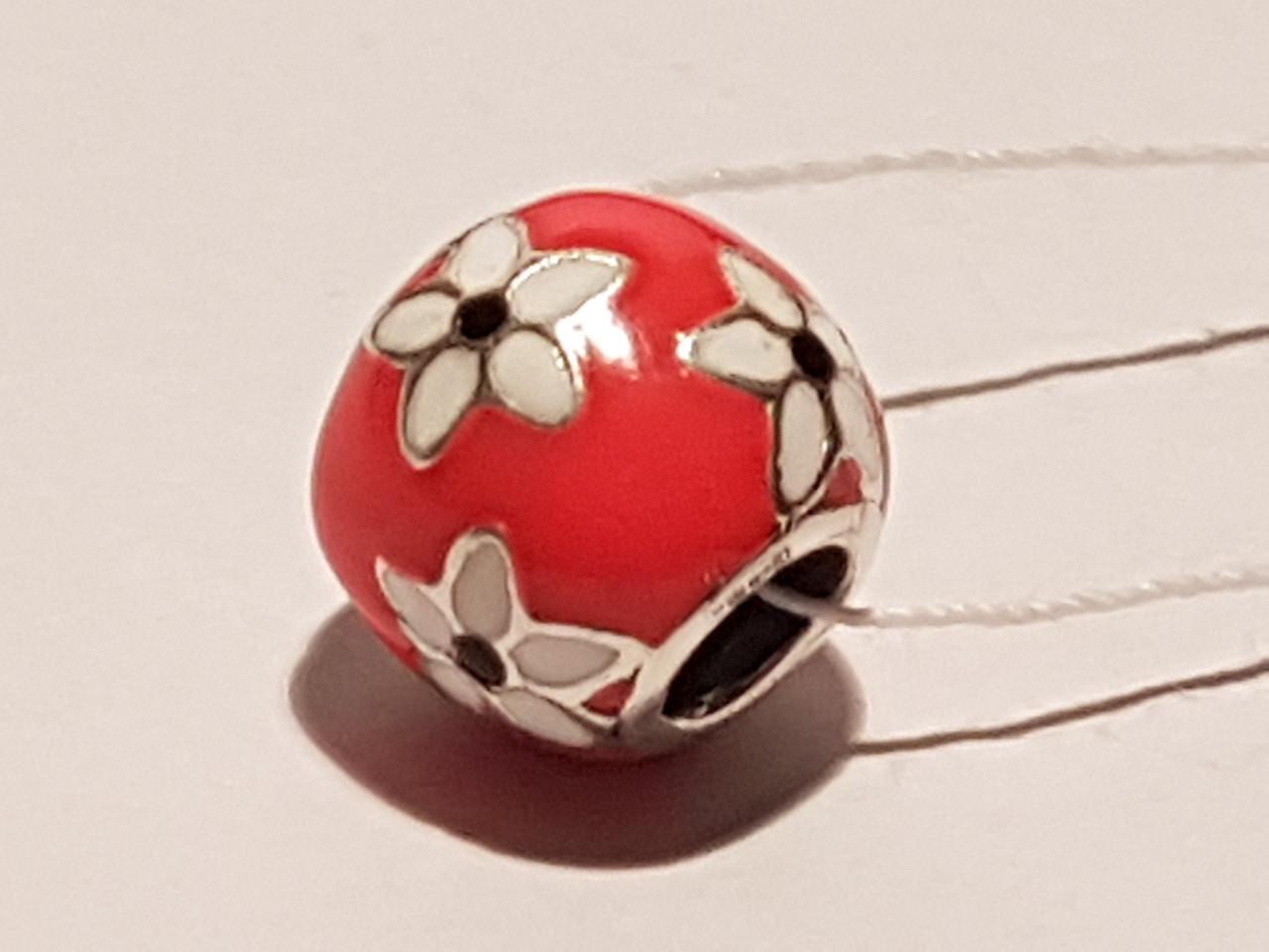 Серебряная подвеска-шарм Мистические цветы. Артикул П5К/751