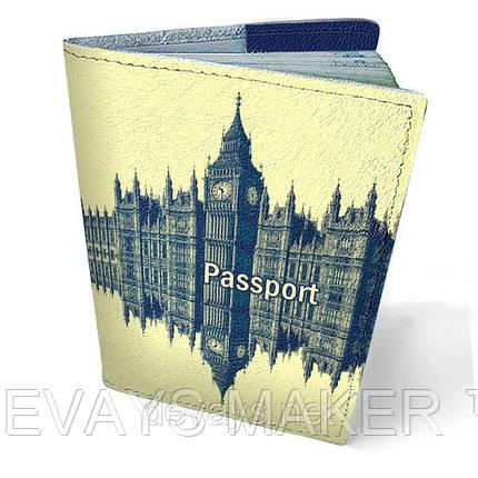 "Обложка на паспорт кожаная ""Лондон"", фото 2"