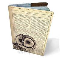 Обложка на паспорт кожаная Совушка