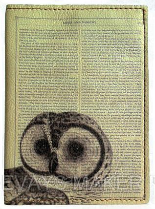 Обложка на паспорт кожаная Совушка, фото 2