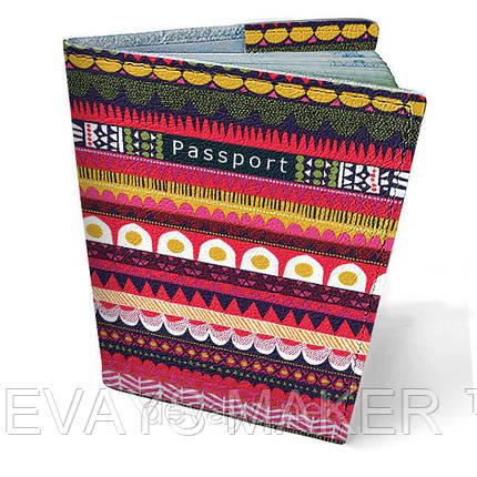 """Обложка на паспорт кожаная """"Узор"""", фото 2"""
