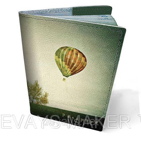 Обложка на паспорт кожаная По небу, фото 2