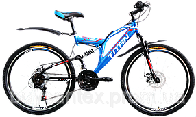 Велосипеды ТМ Titan горные, стальная рама, двухподвес Panther Титан бесплатная доставка