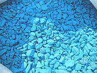 Щебень цветной гранитный от производителя крошка голубая
