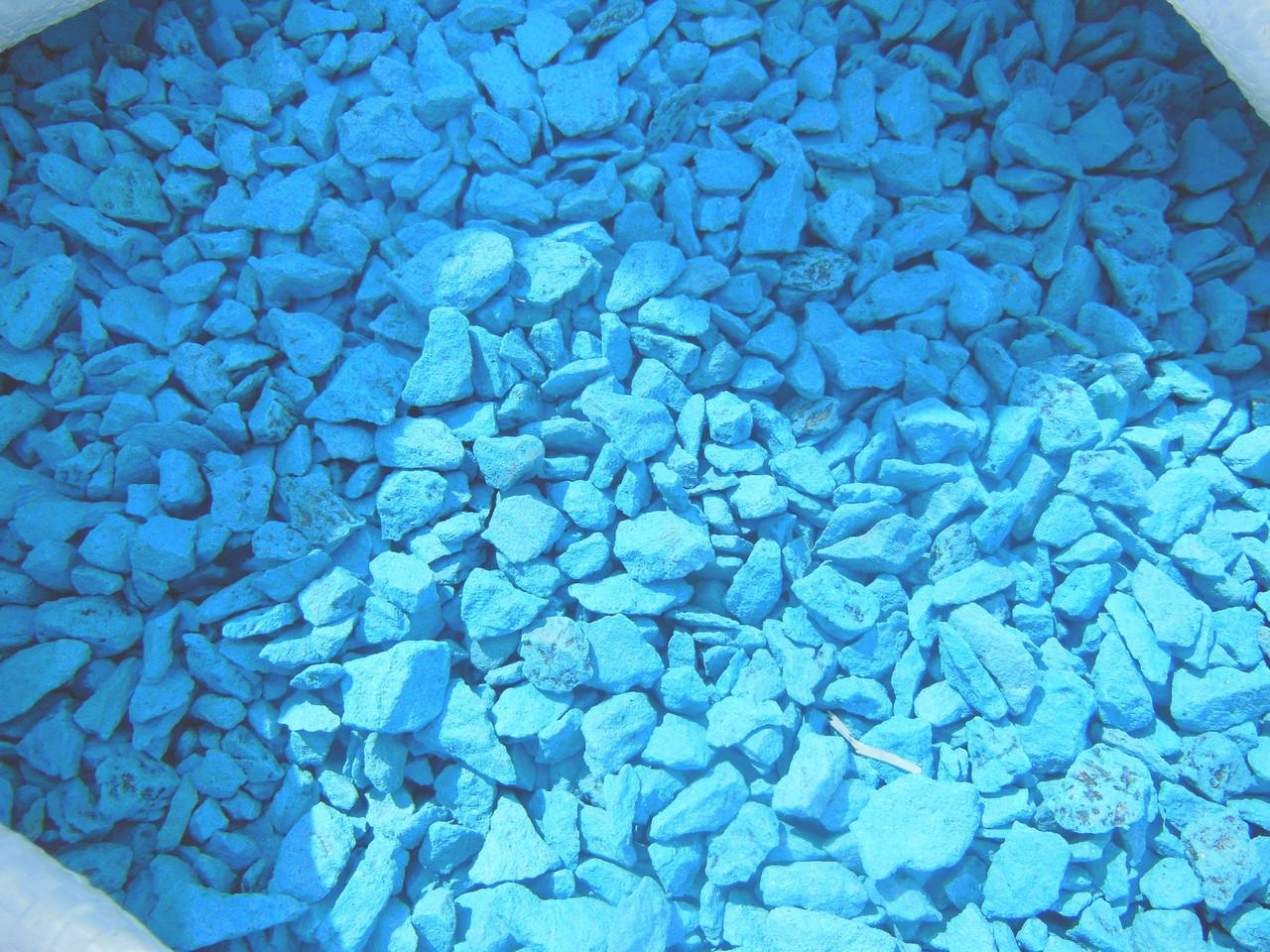 Щебень цветной гранитный от производителя крошка голубая - KOSPOLI в Днепре