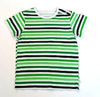 Детская футболка Украина, Трикотаж, 62, зеленая полоска