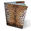 Обложка на паспорт кожаная Леопард
