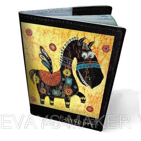 Обложка на паспорт кожаная Пегас, фото 2