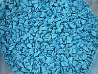 Щебень цветной гранитный от производителя крошка синяя