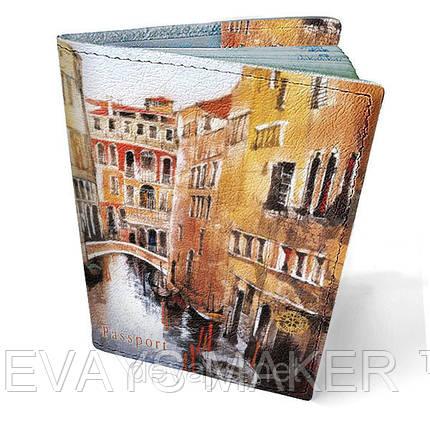 """Обложка на паспорт кожаная """"Венеция"""", фото 2"""