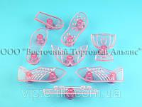 Выемка пластиковая прозрачная - Футбольный набор - 8 деталей
