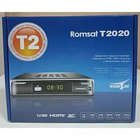 Ефірний T2 тюнер ROMSAT T2020 32 канали Безкоштовно