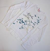 Белый реглан с кружевом для девочек