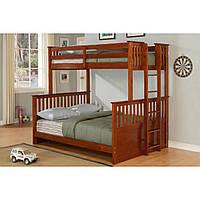 """Двухъярусная трехместная кровать деревянная """"Магеллан"""""""