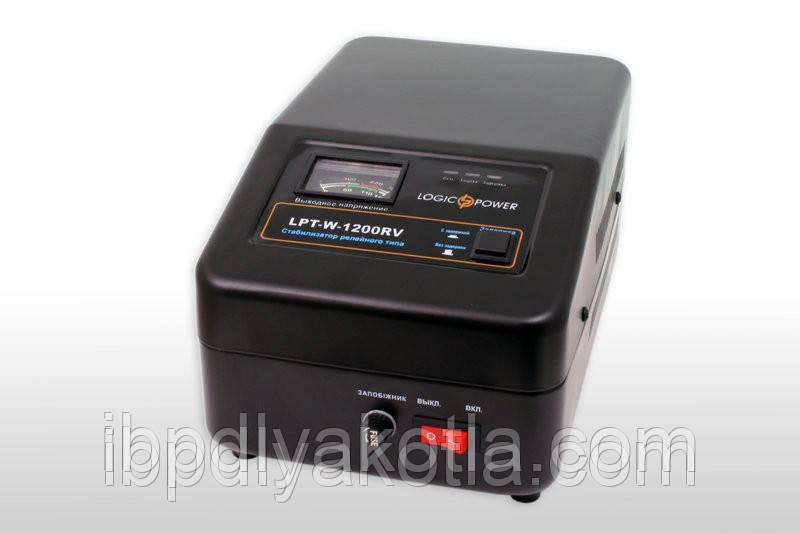 Стабилизатор напряжения Logicpower LPT-W-1200RV (840Вт) Черный