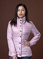Стильная женская демисезонная куртка на синтепоне лилового цвета