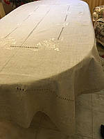 Скатертина лляна вишита ручної роботи 146*96