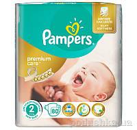 Подгузники Pampers Premium Care New Born Размер 2 (Для новорожденных) 3-6 кг, 80 шт