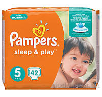 Подгузники Pampers Sleep & Play Размер 5 (Junior) 11-18 кг, 42 шт