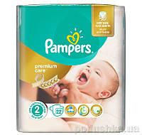 Подгузники Pampers Premium Care New Born Размер 2 (Для новорожденных) 3-6 кг, 22 шт