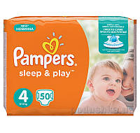 Подгузники Pampers Sleep & Play Размер 4 (Maxi) 8-14 кг, 50 шт