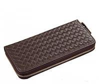 Кожаный кошелек TIDING BAG 8067C коричневый