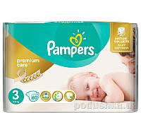 Подгузники Pampers Premium Care Размер 3 (Midi) 5-9 кг, 60 шт